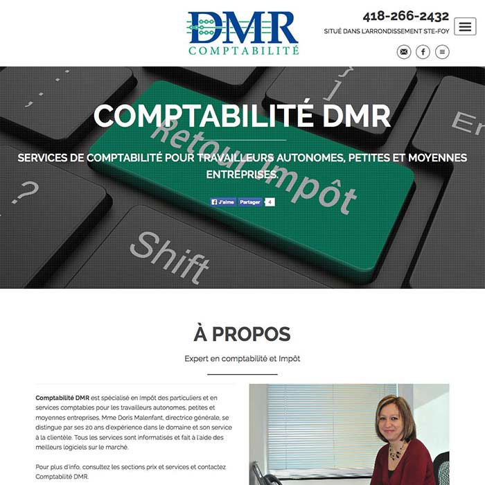 Comptabilité DMR screenshot